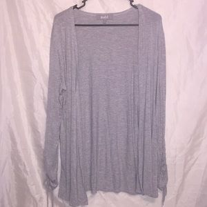 Marled⭐️ Gray long sleeves stretchy cover Sz L ⭐️